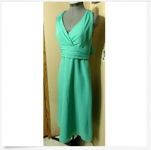 WTOO by WATERS Formal Dress 8 Turquoise V-neck